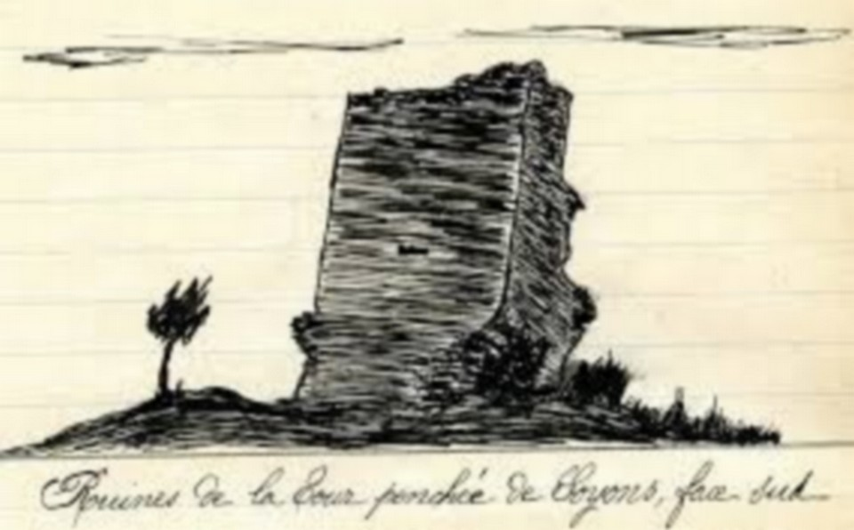 Ruines tour penchée